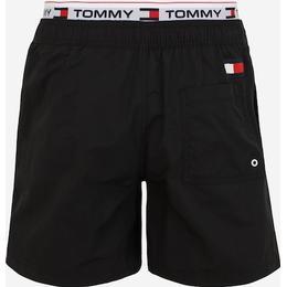 Tommy Hilfiger Medium Drawstring Swim Shorts - Black/Red/White
