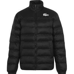 Lacoste Sport Two Tone Quilted Jacket Men - Dark Graphite/Black