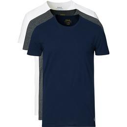 Polo Ralph Lauren 3-Pack Crew Neck T-Shirt - Navy/Grey/White