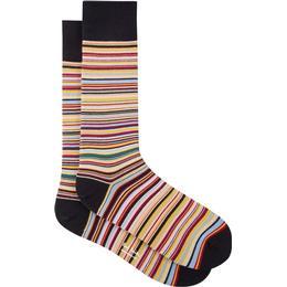 Paul Smith Narrow Signature Stripe Socks - Black/Multi