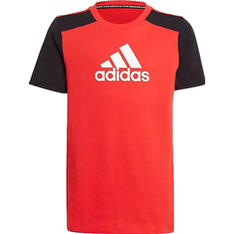 Adidas Logo T-shirt Children - Vivid Red/Black/White
