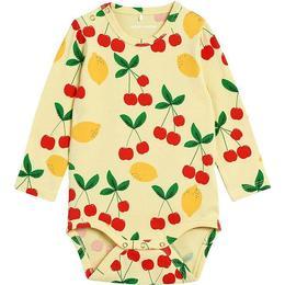 Mini Rodini Cherry Lemonade Baby Body - Yellow (2124012623)