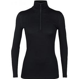 Icebreaker Merino 200 Oasis Long Sleeve Half Zip Thermal Top Women - Black