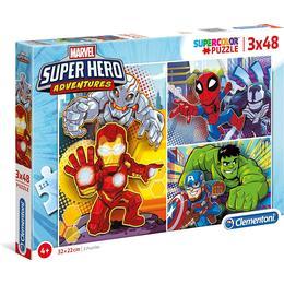 Clementoni Supercolor Marvel Super Hero Adventures 3x48 Pieces