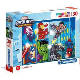 Clementoni Supercolor Marvel Super Hero Adventures 30 Pieces