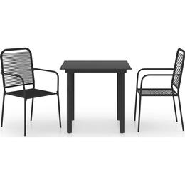 vidaXL 3060207 Dining Group, 1 Table inkcl. 2 Chairs