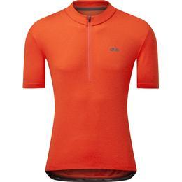 Dhb 1/4 Zip Short Sleeve Jersey Men - Fiery Red