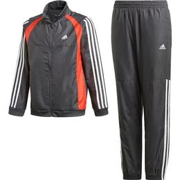 Adidas Woven Tracksuit Kid - Dgh Solid Gray/Vivid Red/White