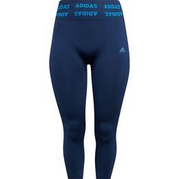 Adidas Training Aeroknit 7/8 High Rise Plus Size Tights Women - Crew Navy