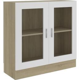 vidaXL 802746 82.5cm Glass Cabinet