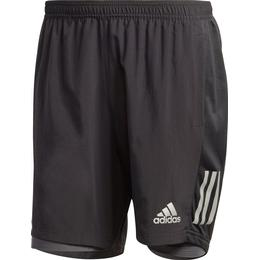 Adidas Own the Run Two-in-One Shorts Men - Black/Grey Six
