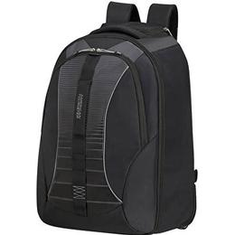 """American Tourister Fast Route Laptop Backpack 15.6"""" - Black/Grey"""