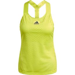 Adidas Heat.Rdy Primeblue Tennis Y-Tank Top Women - Acid Yellow/Crew Navy