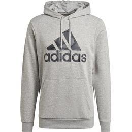 Adidas Essentials Camouflage Hoodie Men - Medium Grey Heather