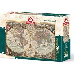 ART Antique World Map 260 Pieces