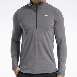 Reebok Activchill+cotton Quarter Zip Top Men - Black