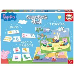 Educa Superpack Peppa Pig 4 in 1 25 Pieces