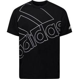 Adidas Giant Logo T-shirt Unisex - Black/White