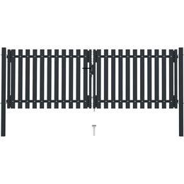 vidaXL Double Fence Gate 306x250cm