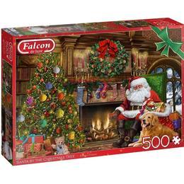 Jumbo Falcon Deluxe Santa by the Christmas Tree 500 Pieces