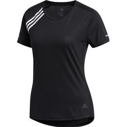 Adidas 3-Stripes Run T-shirt Women - Black