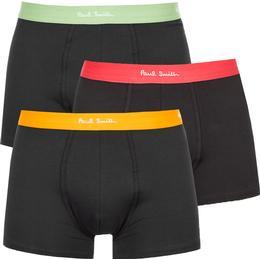 Paul Smith Men's Contrast Waistband Trunks 3-pack - Multicolour