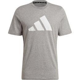 Adidas Logo T-shirt Men - Medium Grey Heather
