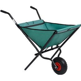 vidaXL Folding Garden Wheelbarrow 60L