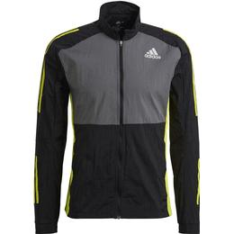 Adidas Track Jacket Men - Black/Grey Five/Acid Yellow