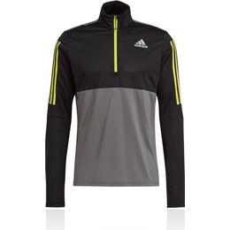 Adidas Own The Run Running 1/2 Zip Sweatshirt Men - Grey Five/Black/Acid Yellow