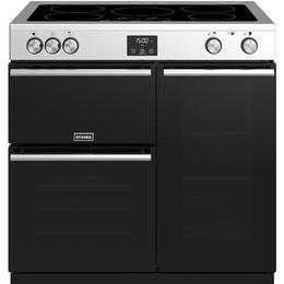 Stoves Precision Deluxe S900EI Black, Stainless Steel