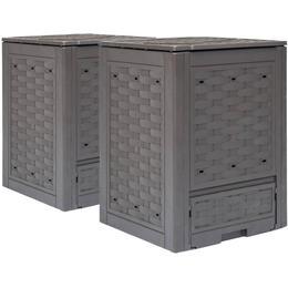 vidaXL Garden Composter 2-pack 600L