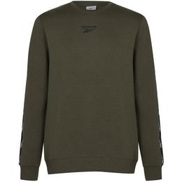 Reebok Training Essentials Tape Crew Sweatshirt Men - Army Green