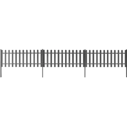vidaXL Fence with Posts 200x60cm 3-pack