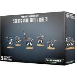 Games Workshop Warhammer 40000 Space Marines Scouts with Sniper Rifles