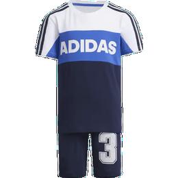 Adidas Graphic Tracksuit - White/Collegiate Navy (FM9826)