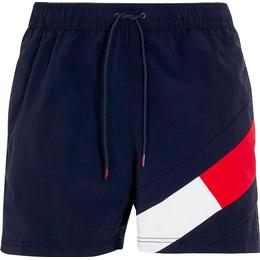 Tommy Hilfiger Colour Blocked Slim Fit Mid Length Swim Shorts - Desert Sky