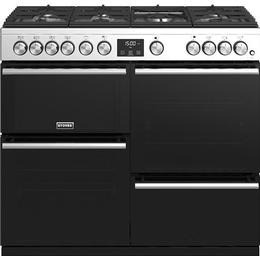 Stoves Precision Deluxe S1000G Black, Stainless Steel
