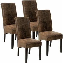 tectake 403628 Leather 4-pack Kitchen Chair