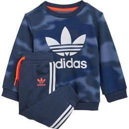 Adidas Infant's Allover Print Camo Crew Set - Crew Blue/White (GN4109)