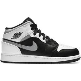 Nike Air Jordan 1 Mid - White/Grey/Black