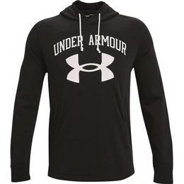 Under Armour Rival Terry Big Logo Hoodie Men - Black/Onyx White