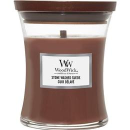 Woodwick Stone Washed Suede Medium Scented Candles