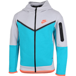 Nike Boy's Sportswear Tech Fleece - Wolf Grey/Aquamarine/Turf Orange (CU9223-012)