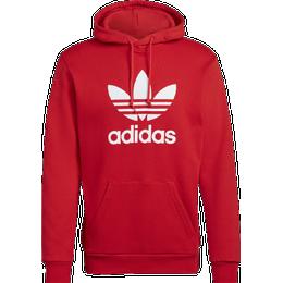Adidas Adicolor Classics Trefoil Hoodie - Red/White