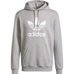 Adidas Adicolor Classics Trefoil Hoodie - Medium Grey Heather/White