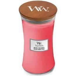 Woodwick Melon & Pink Quartz Large Scented Candles
