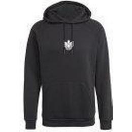 Adidas Loungewear Adicolor 3D Trefoil Graphic Hoodie - Black