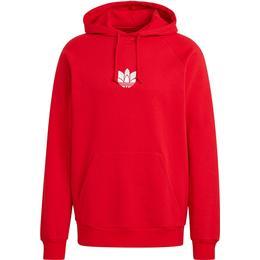 Adidas Loungewear Adicolor 3D Trefoil Graphic Hoodie - Scarlet