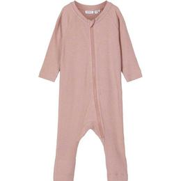Name It Zipped Rib One Piece Suit - Pink/Woodrose (13191217)